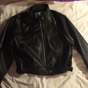 black, cropped, leather jacket!